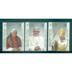 "Vatican 2005 - Mi. n. 1517/1519 - ""Habemus Papam"" Benedict XVI"