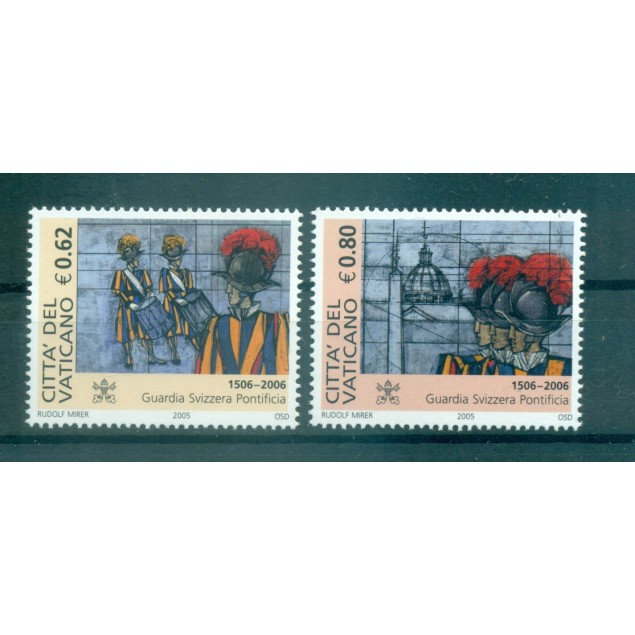Vatican 2005 - Mi. n. 1538/1539 - Pontifical Swiss Guard