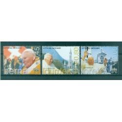 """Vaticano 2005 - Mi. n. 1530/1532 - """"Viaggi del Papa"""" Giovanni Paolo II"""