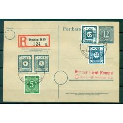 Allemagne - Allemagne orientale 1946 - Entier postal occupation interalliée