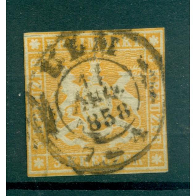 Germany - Württemberg 1857 - Y & T n. 7 - Definitive (Michel n. 7 a)