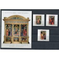 """Vatican 2006 - Mi. n. 1548/1550 + BL 27 - """"Andrea Mantegna"""""""