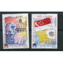 Vatican 2006 - Mi. n. 1569/1570 - Diplomatic relations with Singapore
