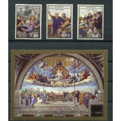 Vaticano 2009 - Mi. n. 1648/1650+Bl - Raffaello