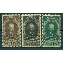 USSR 1926 - Y & T n. 354/56 - Lenin (MIchel n. 308/10 A X)