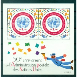 United Nations Geneva 2001 - Y & T sheet n. 16 - 50th anniversary of the United Nations Postal Administration