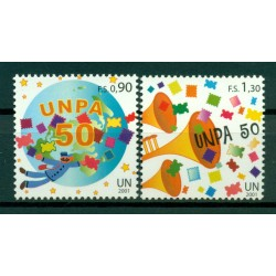 United Nations Geneva 2001 - Y & T n. 439/40 - 50th anniversary of the United Nations Postal Administration