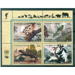 United Nations New York 2001 - Y & T n. 839/42 -  Endangered Species (IX)