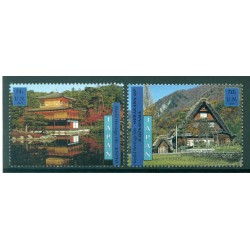 United Nations New York 2001 - Y & T  n. 855/56 - World Heritage. Japan