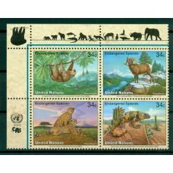 United Nations New York 2002 - Y & T n. 872/75 -  Endangered species (X)