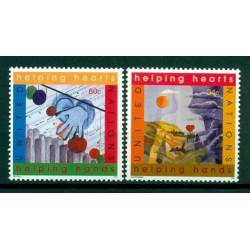 United Nations New York 2001 - Y & T n. 843/44 - International Year of Volunteers