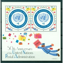 United Nations New York 2001 - Y & T sheet n. 22 - 50th anniversary of the United Nations Postal Administration