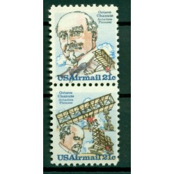 USA 1979 - Y & T n. 87/88 air mail - Octave Chanute (Michel n. 1376/77)