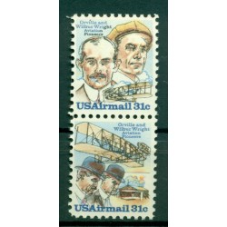 USA 1978 - Y & T n. 85/86 air mail - Orville and Wilbur Wright (Michel n. 1362/63)