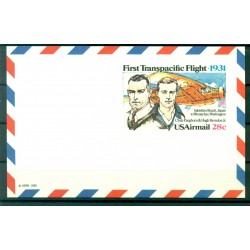 "USA 1980 - Air mail postal stationery ""First transpacific flight"""
