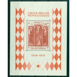 Monaco 1975 - Y & T  sheet n. 7 - Monaco Red Cross