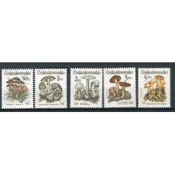 Czechoslovakia 1989 - Mi. n. 3017/3021 - Mushrooms