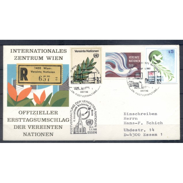United Nations Vienna  1982 - Michel n. P 1/P 2-LF 1 - Definitive