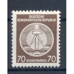 Allemagne - RDA 1955 - Y & T n. 27 timbres de service - Armoiries (Michel n. 27 x)