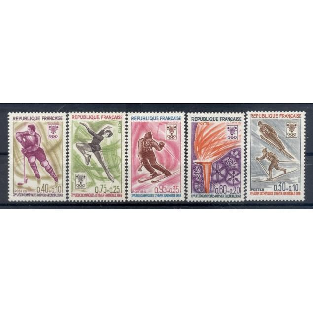 France 1968 - Y & T n. 1543/47 - Winter Olympics (Michel n. 1610/14)