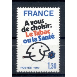 France 1980 - Y & T n. 2080 - Fight against smoking (Michel n. 2200)