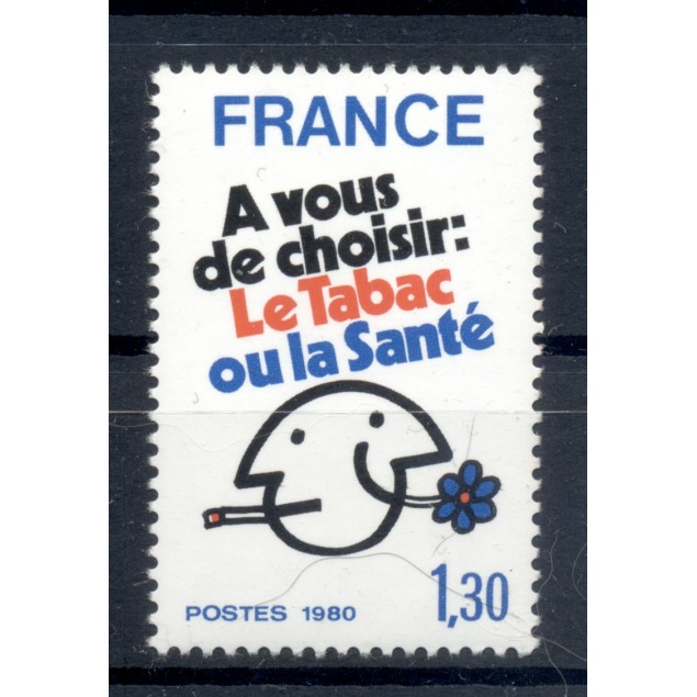 France 1980 - Y & T n. 2080 - Fight against smoking (Michel n. 2200)