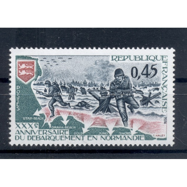 France 1974 - Y & T n. 1799 - Normandy landings (Michel n. 1877)