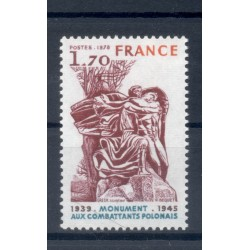 France 1978 - Y & T n. 2021 - Monument to Polish Combatants (Michel n. 2126)