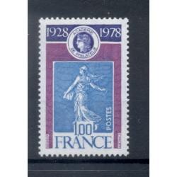 France 1978 - Y & T n. 2017 - Academy of Philately  (Michel n. 2121)
