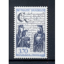 France 1987 - Y & T  n. 2500 - Traité d'Andelot (Michel n. 2635)