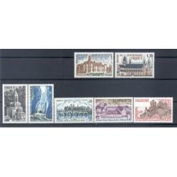 Francia  1978 - Y & T n. 1996/2002 - Serie turistica (Michel n. 2074-77-79-2101-03-09-10)