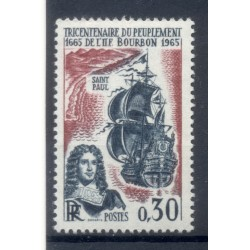 France 1965 - Y & T  n. 1461 - Peuplement de l'Île Bourbon (Michel n. 1525)