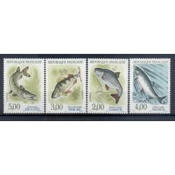 France 1990 - Y & T n. 2663/66 - Nature. Fishes (VII) (Michel n. 2799/2802)