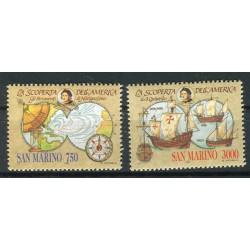 San Marino 1991 - Mi. n. 1472/1473 - Scoperta dell'America