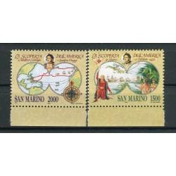 San Marino 1992 - Mi. n. 1493/1494 - Scoperta dell'America
