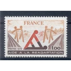 France 1978 - Y & T n. 2023 - Rehabilitation assistance (Michel n. 2128)