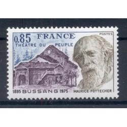 Francia 1975 - Y & T n. 1846 - Théâtre du Peuple (Michel n. 1930)