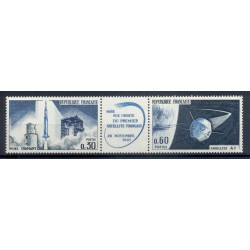 Francia  1965 - Y & T n. 1465A - Lancio del primo satellite nazionale  (Michel n. 1530/31)