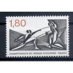 France 1981 - Y & T  n. 2147 - Championnats du monde d'escrime (Michel n. 2273)