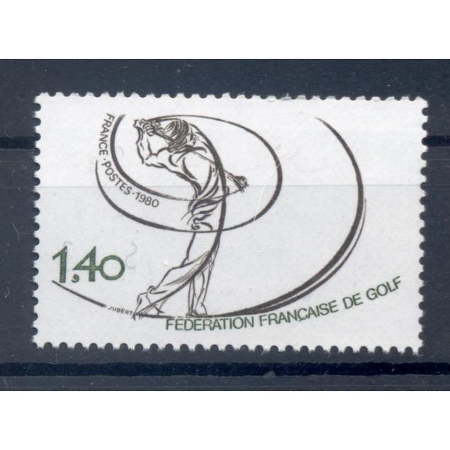 France 1980 - Y & T n. 2105 - French Golf Federation  (Michel n. 2225)