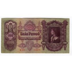 HUNGARY - National Bank 1930 - 100 Pengo