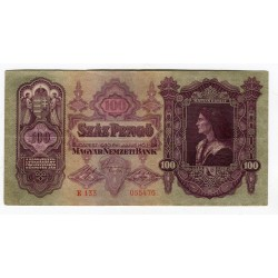 UNGHERIA - National Bank 1930 - 100 Pengo
