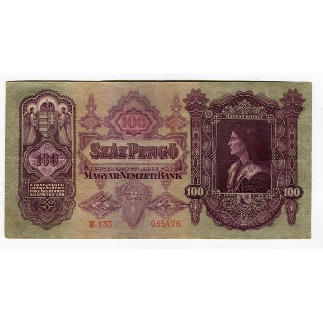HONGRIE - National Bank 1930 - 100 Pengo
