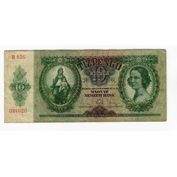 HONGRIE - National Bank 1936 - 10 Pengo