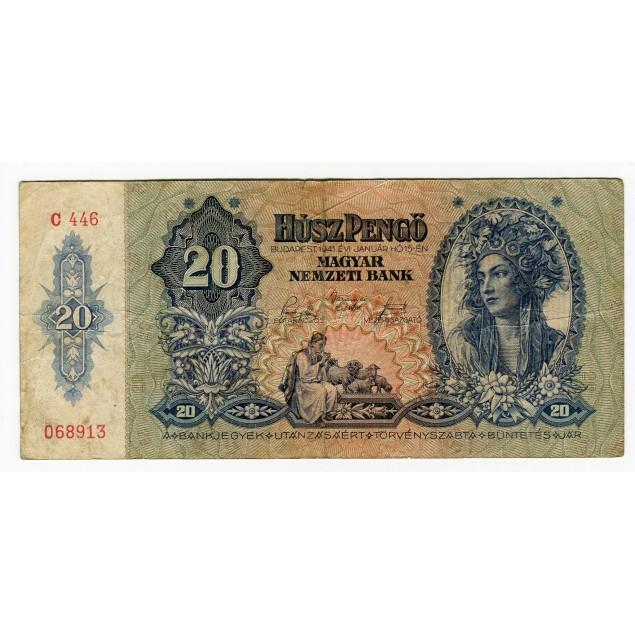 HONGRIE - National Bank 1941 - 20 Pengo