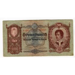 HUNGARY - National Bank 1932 - 50 Pengo