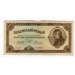 HUNGARY - National Bank Inflationary Era 1946 - 100.000.000 Pengo