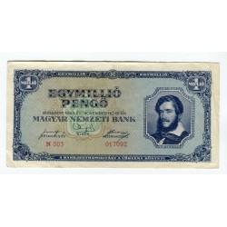 UNGHERIA - National Bank Inflationary Era 1945 - 1.000.000 Pengo