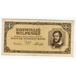 UNGHERIA - National Bank Inflationary Era 1946 - 1.000.000 Pengo