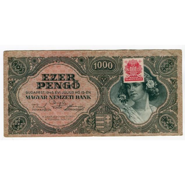 HONGRIE - National Bank Inflationary Era 1945 - 1.000 Pengo